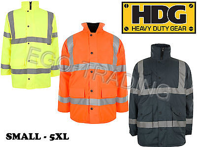 High Viz Safety Waterproof Storm Padded Warm Work Wear Construction Coat Ausgereifte Technologien