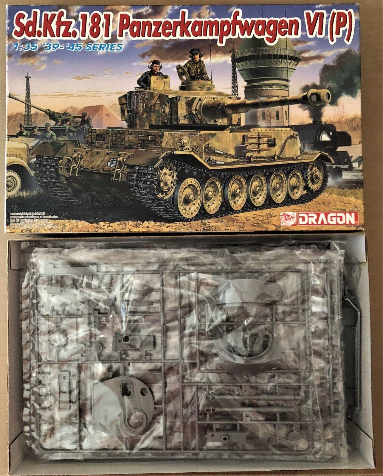 Dragon 6210-sd.kfz.181 Panzerkampfwagen VI (P) - 1 35 Plastic Kit