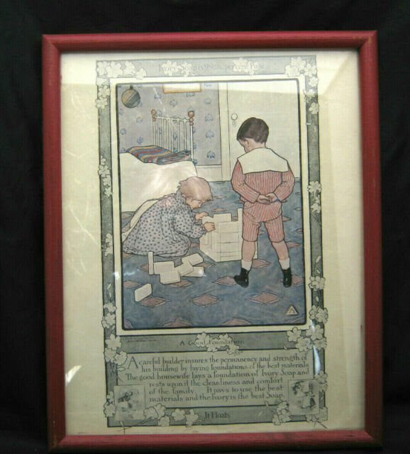 Framed Lithograph Print Ivory Soap A GOOD FOUNDATION
