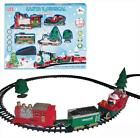 Battery Operated 20 Pieces Santas Christmas Musical Train Set With Track Jingle