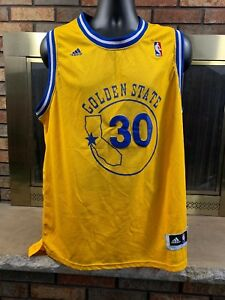 Image is loading 100-Authentic-Stephen-Curry-Adidas-NBA-Warriors-Yellow- 926270767
