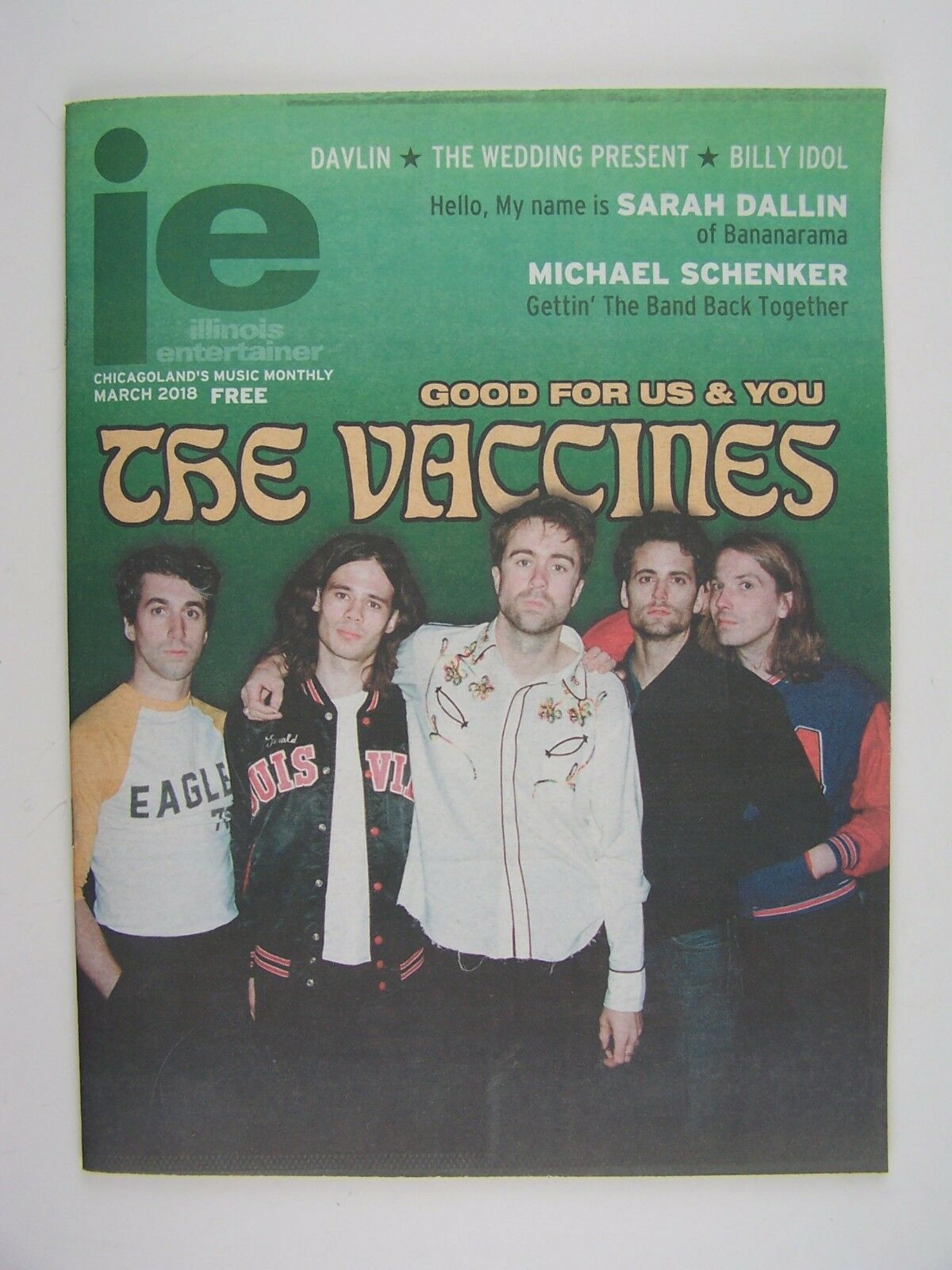 Illinois Entertainer March 2018 The Vaccines Davlin, Bi