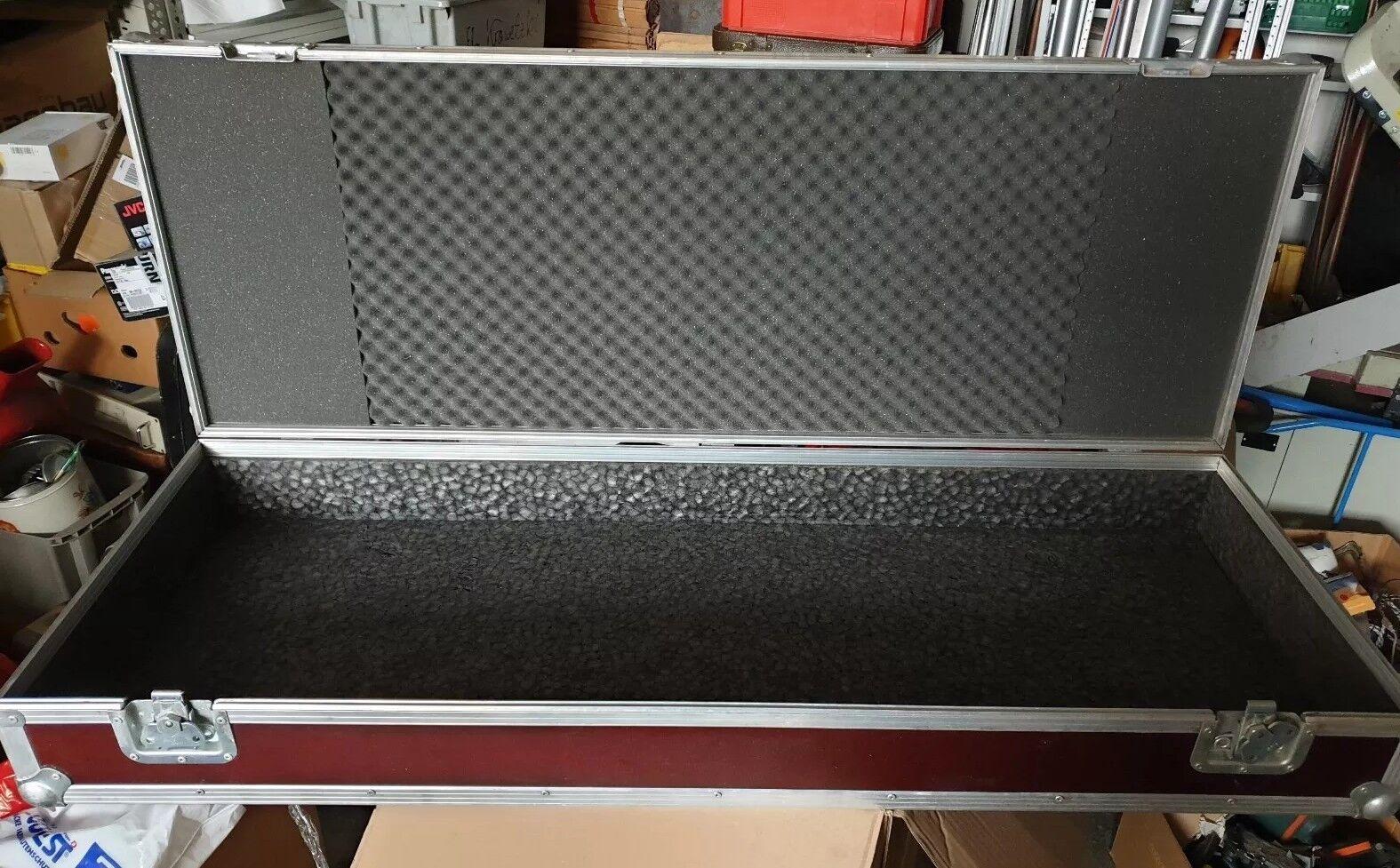 Flightcase Transportbox Flight Case Alu/Holz L 127, T 45,5, H 17 cm außen Maß
