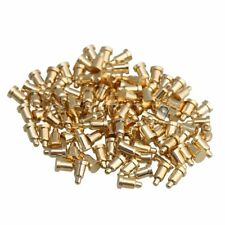 100x Gold Plating Copper D2xh35mm Spring Thimble Pogo Pins Probes Connector