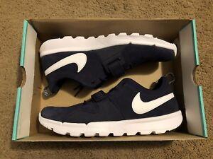more photos 98d2a c4479 Image is loading Nike-SB-Trainerendor-L-Suede-Obsidian-Dark-Blue-