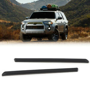 Matte Black Front Center Grille Grill Cover Trim For Toyota 4Runner 2020-2021