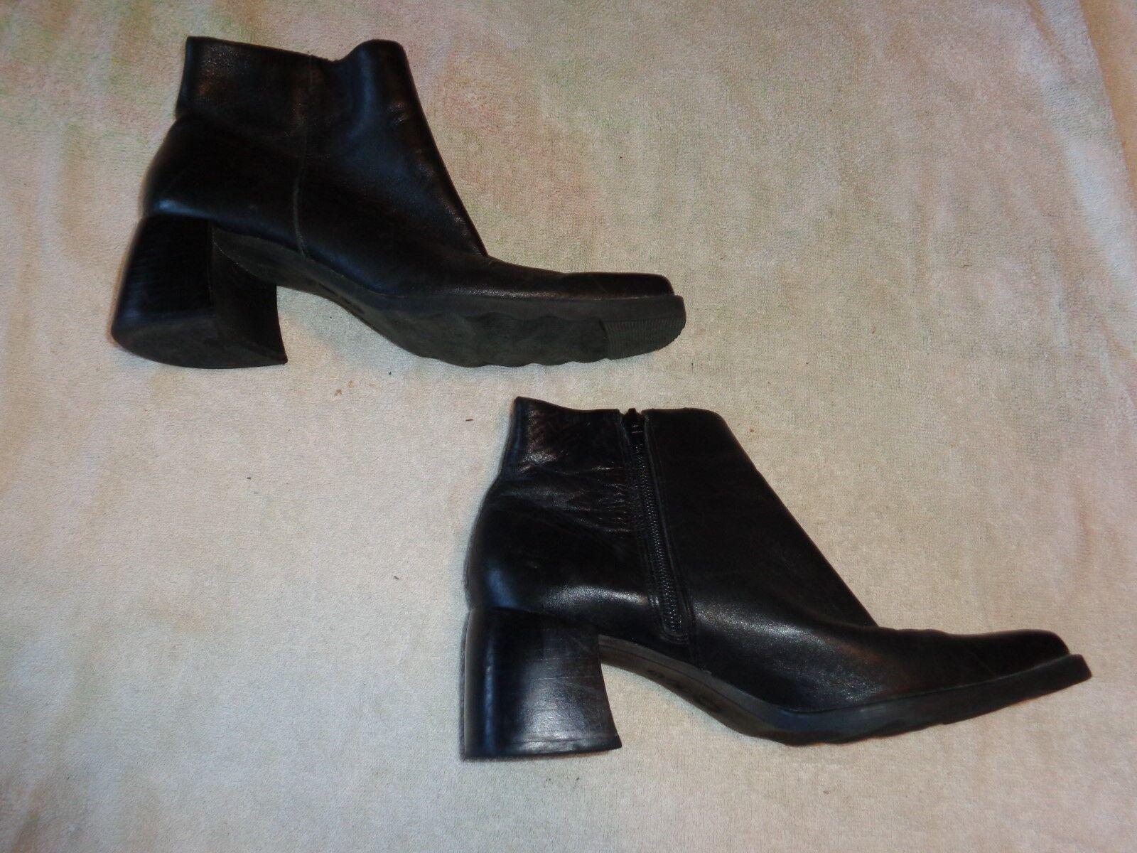 CALICO BLACK ZIPPER BOOTS WOMENS  SIZE 7 M   WOMENS SIDNEY e5d516