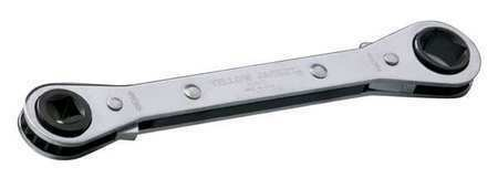YELLOW JACKET 60615 Ratcheting Wrench,Head Size 1//2 x 3//8 in