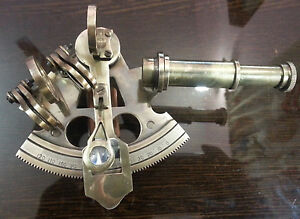"""Solid Brass Vintage Collectible Sextant 4"""" working Instrument Astrolabe Gift Ite"""
