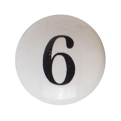 Möbelknopf Porzellan Möbelknauf für Schubladen Weiß Keramik Vintage Shabby Zahl