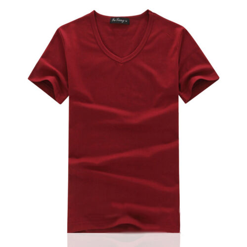 Men/'s Summer Slim Fit Casual Short Sleeve Shirts T-shirt New Vest Tee Tops