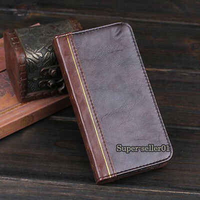 Fashion Retro Leather Flip Card Wallet Cover Case For iPhone 4/4S 5/5S 6/6 Plus