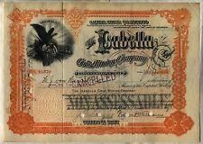 Isabella Gold Mining Company Stock Certificate Colorado