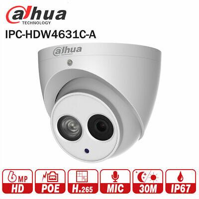 Dahua IPC-HDW4631C-A 6MP POE IR H.265 IP67 Dome Camera 3.6mm Lens can/'t Upgrade