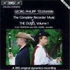 Telemann CPT Recorder Music Vol1 Duet CD