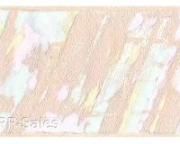 Malibu Splash Turquoise Violet Peach Retro Paint Textured Wall Wallpaper Border