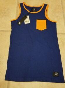 39bf7746b40c1 NEW  NWT ~ Boys DC Shoes Tank Top Shirt Size 10 Small Blue Orange