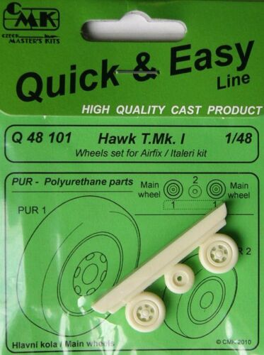 CMK 148 BAe Hawk T. Mk. I Wheels for AirfixItaleri # Q48101