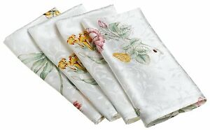 LENOX-BUTTERFLY-MEADOW-NAPKINS-SET-OF-4-NEW-FREE-SHIPPING