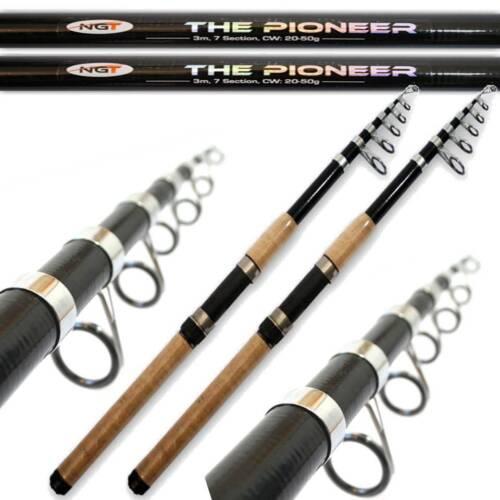 2 x Pioneer Telescopic Fishing Rods 3M 10FT Cork Handle