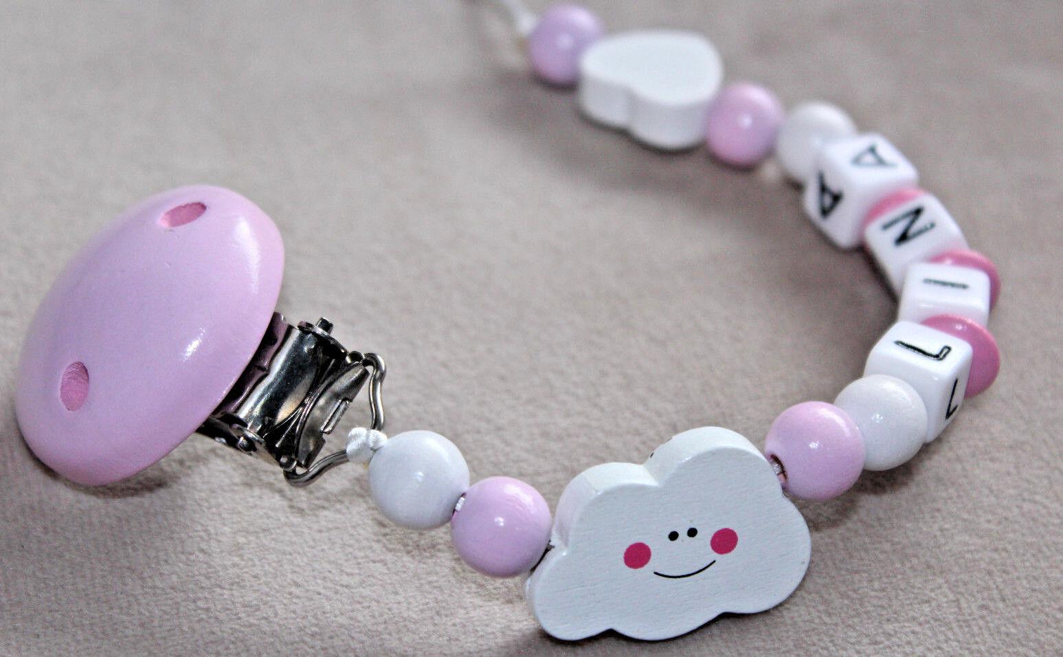 ★ Schnullerketten mit Namen ★ Baby Geschenk Geburt ★ Herz ★ Kleine Prinzessin