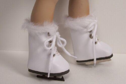 """WHITE Ice Skates Custom Made Doll Shoes For 10/"""" Berdine Creedy Vinyl DEBs"""