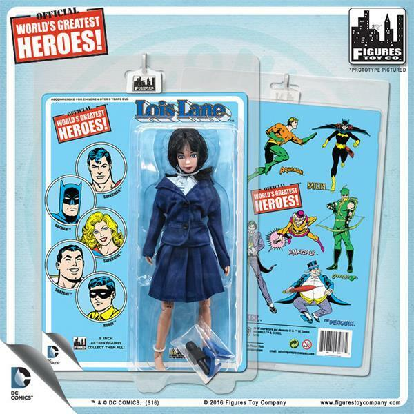 Worlds Greatest Heroes retro styled card  Lois Lane 8  action figure NEW