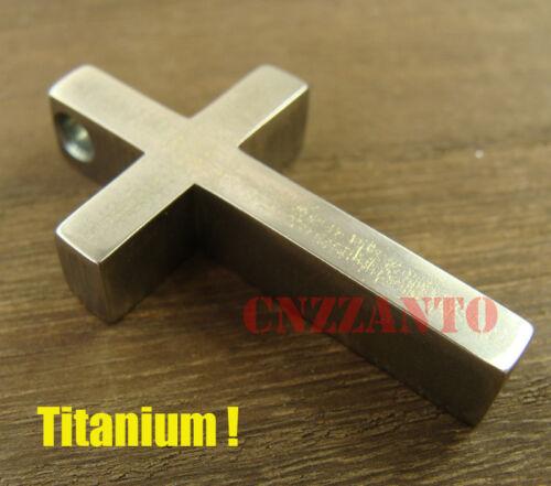 Big size Handmade Titanium Ti Cross necklace pendant anti-allergy Ti045