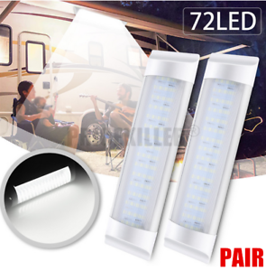 2Pcs-12V-LED-Interior-Lights-Doom-Roof-Light-For-Car-RV-Camper-Caravan-Camping-J
