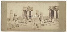 Grèce Greece L'acropole Stéréo photo Vintage Albumine ca 1860