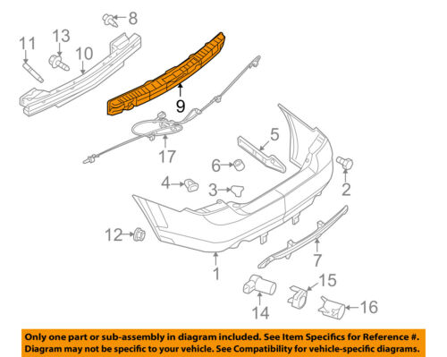 Mercury FORD OEM 06-09 Milan Bumper Face-Foam Impact Absorber Bar 6N7Z17787AA