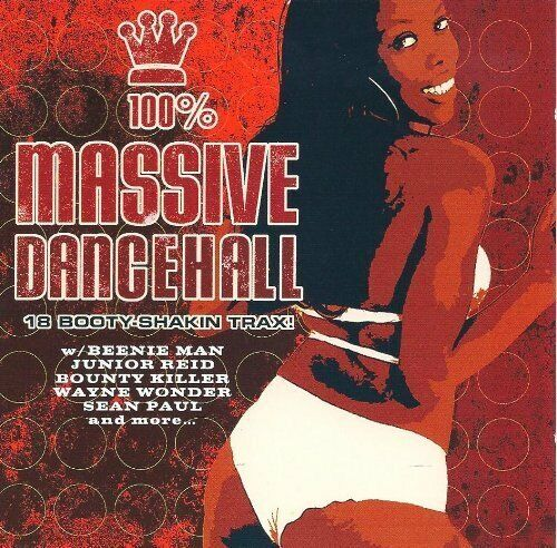 100% Massive Dancehall Wayne Wonder & Spragga Benz, Sean Paul, Simpleton,.. [CD]
