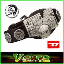 New DIESEL BRAVE Genuine Leather Bracelet Brown Bangle Wristband Men's Surf BD30