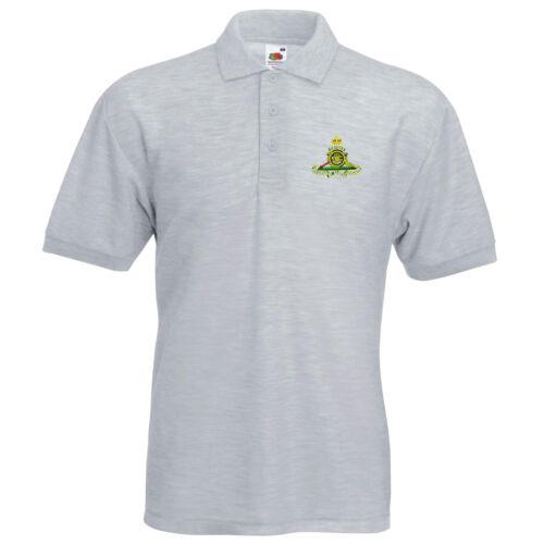 Royal Artillery Polo Shirt Embroidered Logo Royal Artillery
