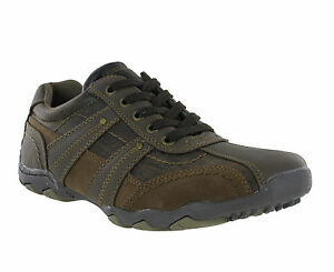 New-Mens-Route-21-Brown-Casual-Shoes-Smart-Lace-Up-Trainers-Shoes-Size-6-12-UK