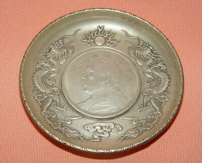 """Ehrlichkeit Alte Silber Teller Mit """"drei Jahre Der Republik China"""" (ad 1914) Silber Münze"""