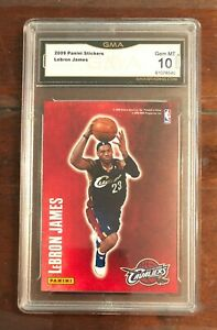LeBron-James-2009-Panini-Decals-Stickers-GMA-10-not-PSA-10-or-BGS-9-5