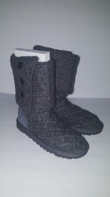 c13e1e8d114 UGG Australia Lattice Cardy Boot 3066 CHRC Charcoal Gray Women's 5
