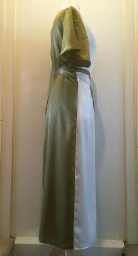 Never Fully Dressed Satin Midi Wrap Dress Size 8-16 BNWT RRP £81.95 Khaki//White