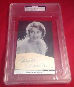 Jeanette Macdonald signed Cut Slabbed PSA/DNA #83107961