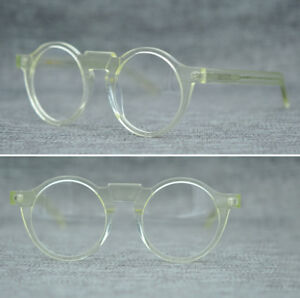 99e9a27475 Retro Round Optical Eyeglass Frame RX able Glasses Spectacles Clear ...