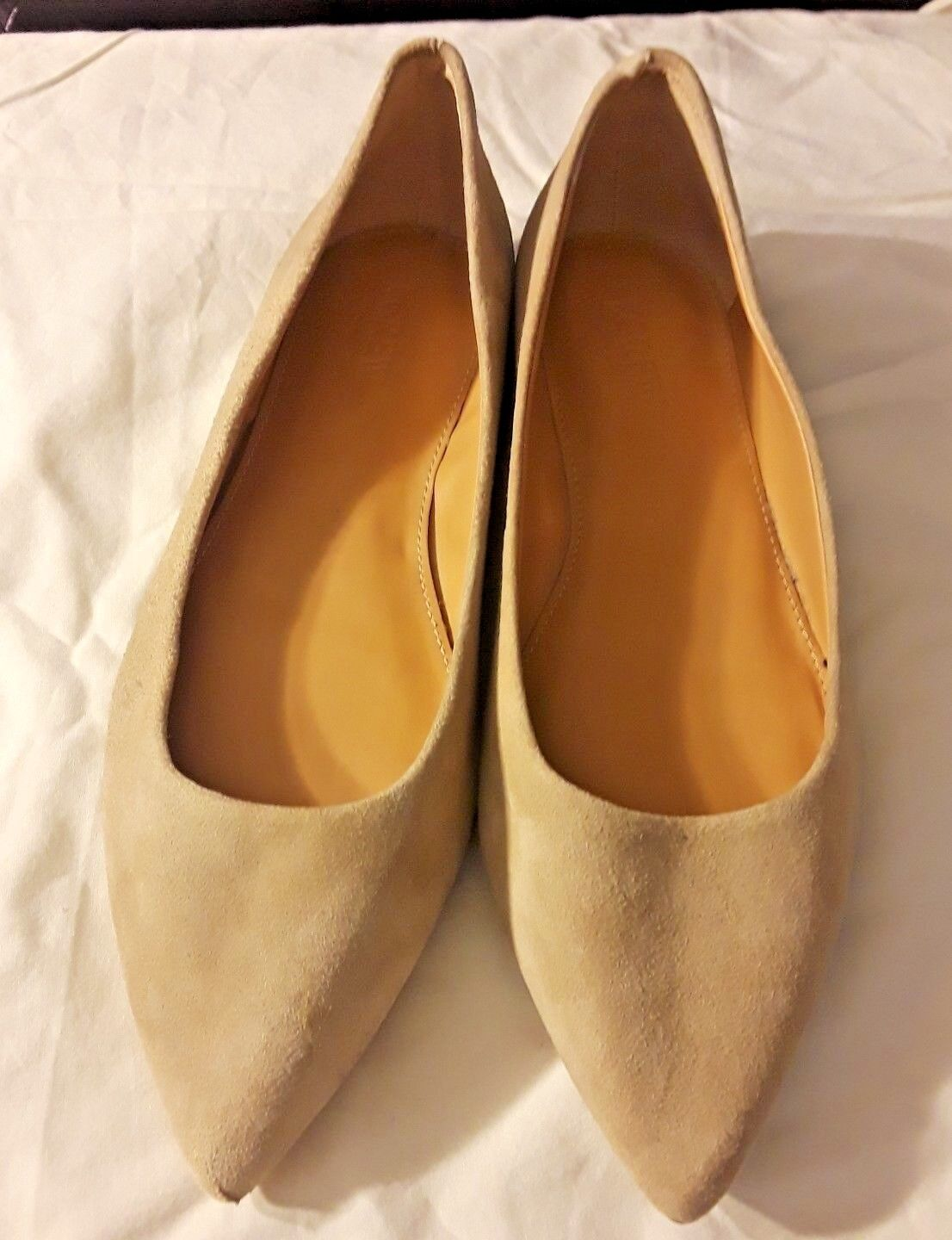 liquidazione J J J Crew Tan Light Marronee Suede Leather Almond Toe Ballet Flats Career Casual 7.5  grande sconto