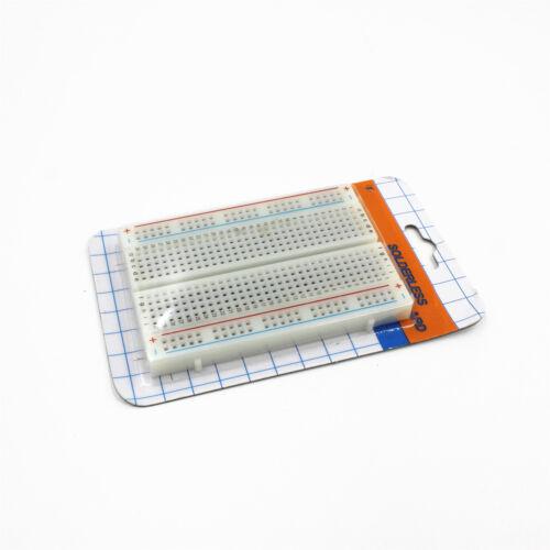 1Stück Mini Breadboard Experimentier board Steckboard 400 Kontakte 8.5x5.5CM