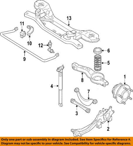 1 MAZDA OEM 06-10 5 Rear Suspension-Coil Spring CG3728011