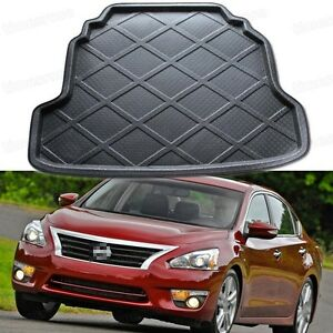 Black Car Rear Trunk Mat Cargo Boot Liner Tray For Nissan