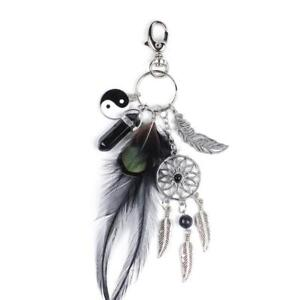 Dream-Catcher-Feather-Tassel-Key-Chain-Ring-Keyring-Bag-Pendant-Keychain-Charm