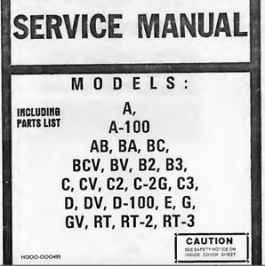 Details about Hammond xb-2 Chord Organ, a-100, CV schematic diagram on