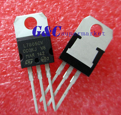 20PCS IC L7805CV L7805 7805 TO-220 Voltage Regulator 5V ST NEW GOOD T26