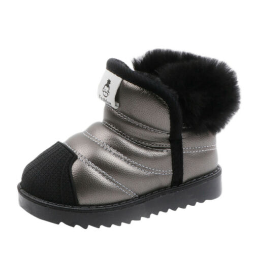 Kid Snow Boots Waterproof Toddler Infant Baby Boy Girl Winter Warm Ankle Shoes 1