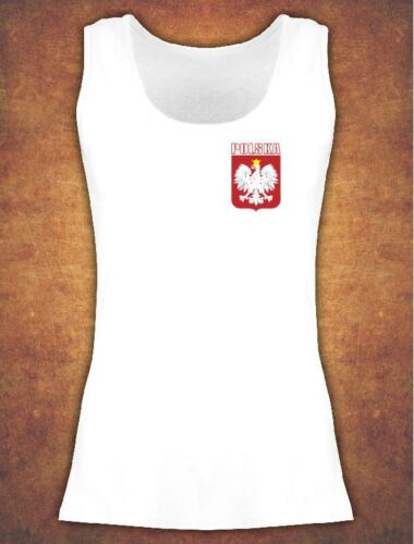 Vest Koszulka Damska Polska Poland Kibic T-shirt Female White